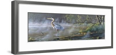 Quiet Cove - Great Blue Heron-Wilhelm Goebel-Framed Giclee Print