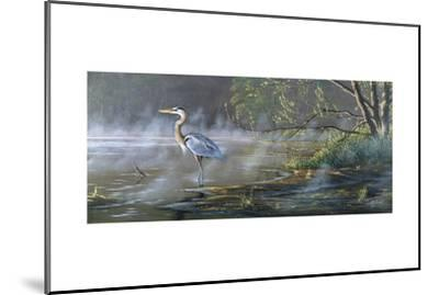 Quiet Cove - Great Blue Heron-Wilhelm Goebel-Mounted Giclee Print