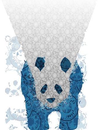 Panda-Teofilo Olivieri-Stretched Canvas Print