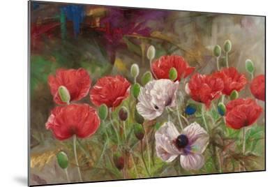 Poppies III-li bo-Mounted Giclee Print