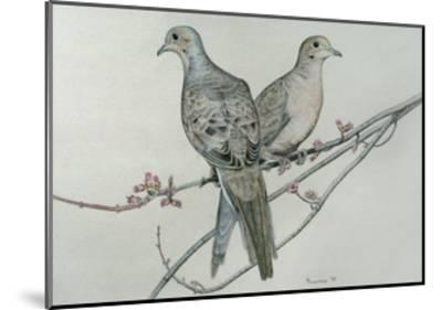 Two Birds on Branch-Rusty Frentner-Mounted Giclee Print