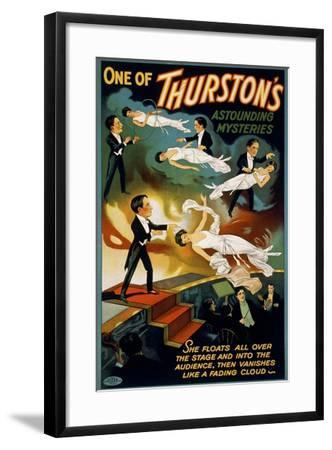 She Floats All over the Stage, Howard Thurston--Framed Giclee Print