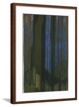 Study in Verticals-Frantisek Kupka-Framed Giclee Print