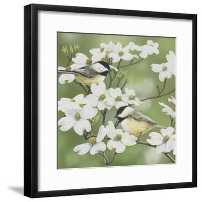 Springtime and Chickadees-William Vanderdasson-Framed Giclee Print