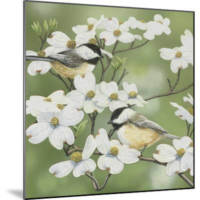 Springtime and Chickadees-William Vanderdasson-Mounted Giclee Print