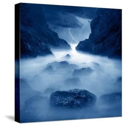 Tormenta en ixtapa Blue-Moises Levy-Stretched Canvas Print