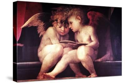 Two Redhead Cherubs--Stretched Canvas Print