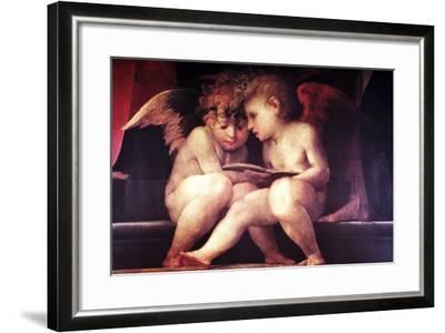 Two Redhead Cherubs--Framed Giclee Print