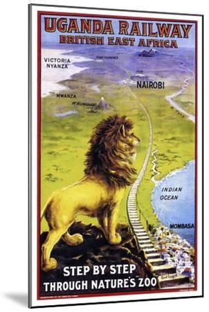 Uganda Railway--Mounted Premium Giclee Print