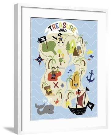 Treasure Map-Erin Clark-Framed Giclee Print
