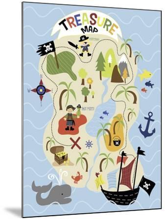 Treasure Map-Erin Clark-Mounted Giclee Print