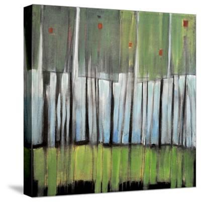 Trees with Red Birds-Tim Nyberg-Stretched Canvas Print