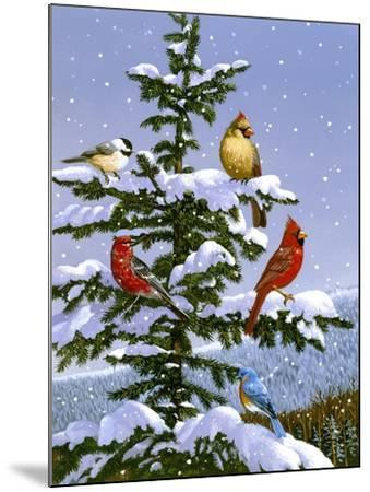Songbirds on a Limb-William Vanderdasson-Mounted Giclee Print