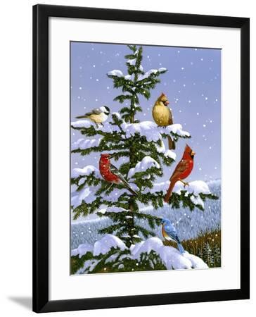 Songbirds on a Limb-William Vanderdasson-Framed Giclee Print