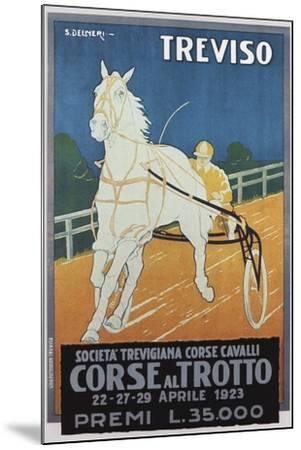 Treviso Horse Racing--Mounted Giclee Print