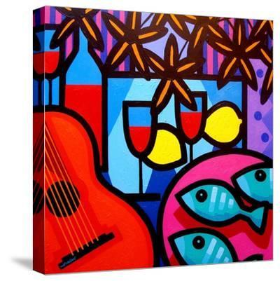 Still Life with Guitar-John Nolan-Stretched Canvas Print