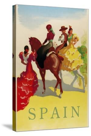 Spain Horses--Stretched Canvas Print