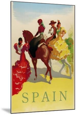 Spain Horses--Mounted Giclee Print