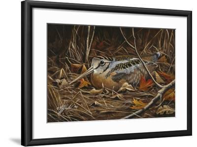 Woodcock in Hiding-Wilhelm Goebel-Framed Giclee Print