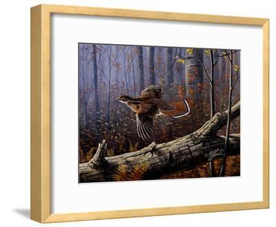 Windfall Glider - Ruffed Grouse-Wilhelm Goebel-Framed Giclee Print