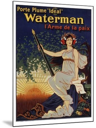 Waterman Pen--Mounted Giclee Print