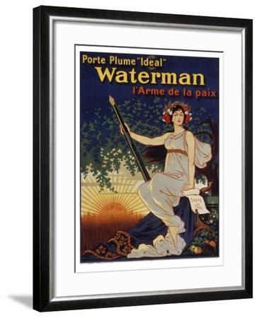 Waterman Pen--Framed Giclee Print