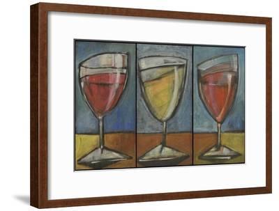 Wine Trio Triptych-Tim Nyberg-Framed Premium Giclee Print