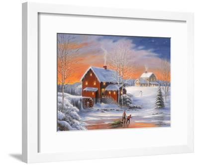 Winter at the Old Mill-John Zaccheo-Framed Giclee Print