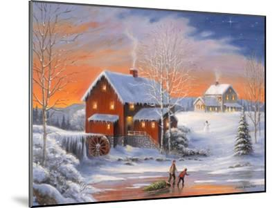 Winter at the Old Mill-John Zaccheo-Mounted Giclee Print
