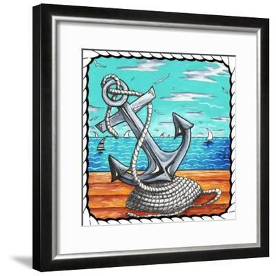 Anchors Away Rope - Border II-Megan Aroon Duncanson-Framed Giclee Print