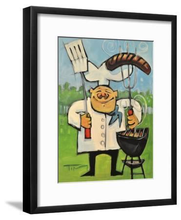 Backyard Bistro-Tim Nyberg-Framed Premium Giclee Print