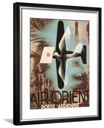Air Orient Dove--Framed Giclee Print
