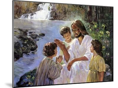 Christ and the Children-Hal Frenck-Mounted Giclee Print
