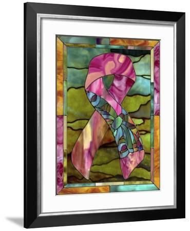 Breast Cancer Ribbon-Mindy Sommers-Framed Giclee Print