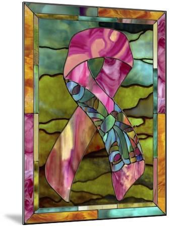 Breast Cancer Ribbon-Mindy Sommers-Mounted Giclee Print