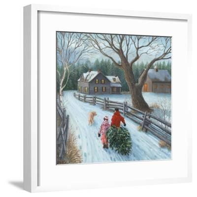Christmas on the Farm-Kevin Dodds-Framed Giclee Print