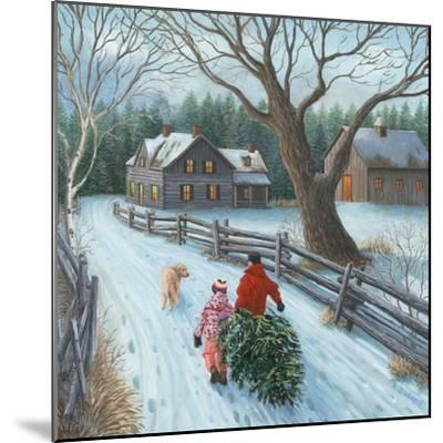 Christmas on the Farm-Kevin Dodds-Mounted Giclee Print