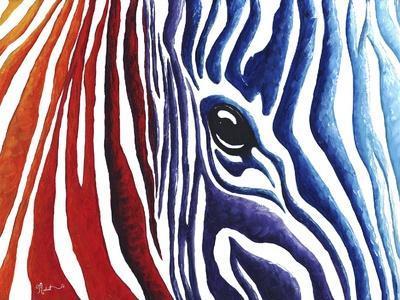 Colorful Stripes I-Megan Aroon Duncanson-Framed Giclee Print