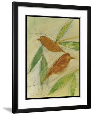 Brown Birds at Rest-Tim Nyberg-Framed Giclee Print