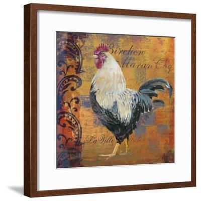 Coq Motifs III--Framed Giclee Print