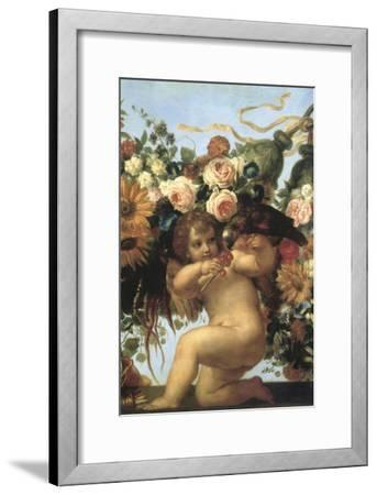 Cherub and Parrot--Framed Giclee Print