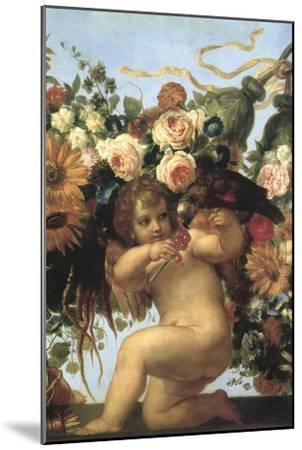 Cherub and Parrot--Mounted Giclee Print