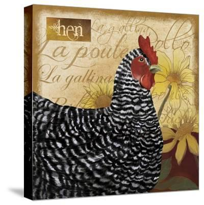 Chicken-Fiona Stokes-Gilbert-Stretched Canvas Print