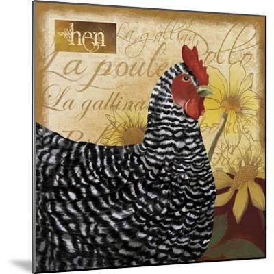 Chicken-Fiona Stokes-Gilbert-Mounted Giclee Print