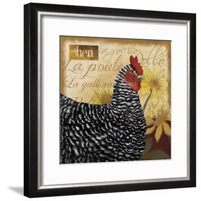Chicken-Fiona Stokes-Gilbert-Framed Giclee Print