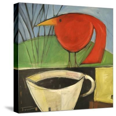 Coffee and Red Bird-Tim Nyberg-Stretched Canvas Print