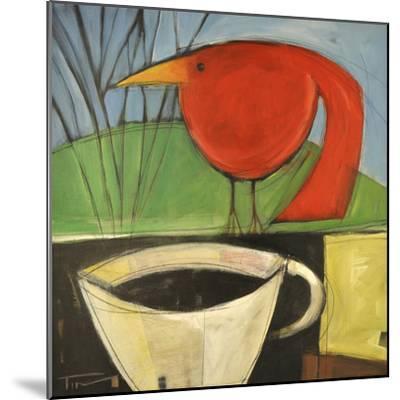 Coffee and Red Bird-Tim Nyberg-Mounted Premium Giclee Print