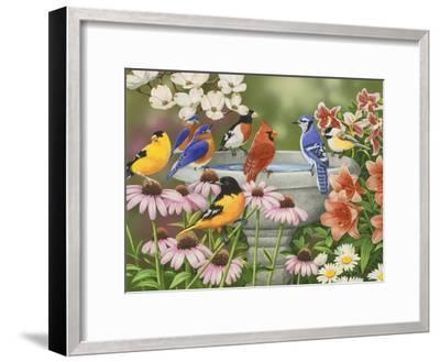 Garden Birdbath-William Vanderdasson-Framed Premium Giclee Print
