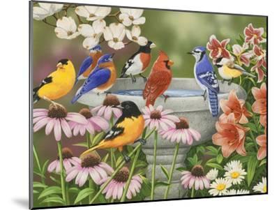 Garden Birdbath-William Vanderdasson-Mounted Premium Giclee Print