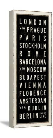 Europe Transit Sign-Michael Jon Watt-Framed Stretched Canvas Print